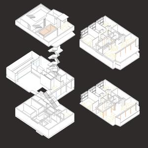 Housing in the center of Santiago de Chile
